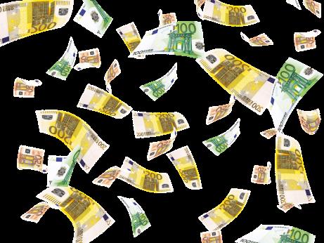 bankovky letící vzduchem